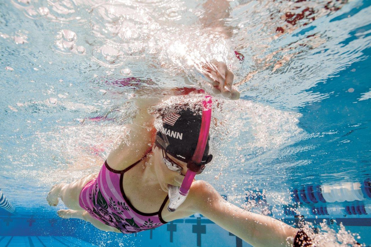 Swimmer S Snorkel Pink Allows Swimmers To Focus On Stroke